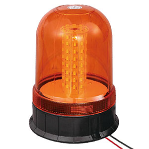 LED Beacon For Fork Truck 24W 9-30V SMD Amber With Three-Bolt IP66 ECE R10 #S806
