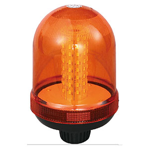 SMD LED Flashing Beacon For Electric Empty Container Handler 24W 12V/24V Amber With Pole Mount IP66 ECE R10 #S807