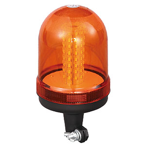 LED Strobe Beacon SMD For Go-anywhere Vehicle 24W 12 Volt Orange With DIN A Mount IP66 E-mark #S807