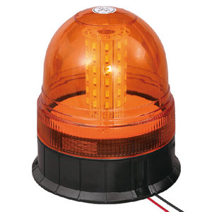 Flashing Beacon LED For Stake Trailer 18W 9-30V SMD Amber With Three-Bolt IP66 ECE R10 #S814