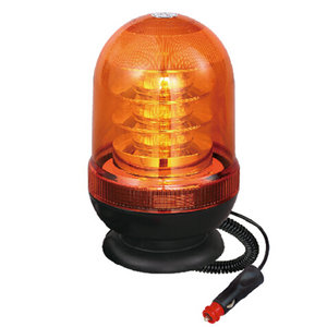 LED Beacon Warning Light High-Power For Private Bus 54W 12 Volt Yellow With Magnetic IP66 CE E9 #P807