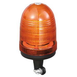 Mini LED Beacon High-Power For Emergency Automobile 54W 12 Volt Orange With Pole Mount IP66 E-mark #P808