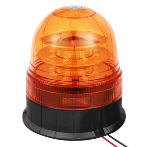LED Safety Beacon For Steering Wheel Tractor 48W 9-30V High-Power Amber With Three-Bolt IP66 ECE R10/R65 #P814